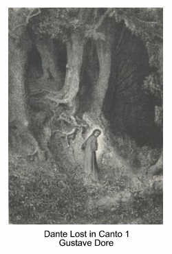 Dante Lost in Canto 1 by Gustave Dore