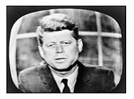 Kennedy on television screen