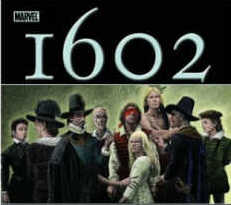 Marvel book cover for 1602