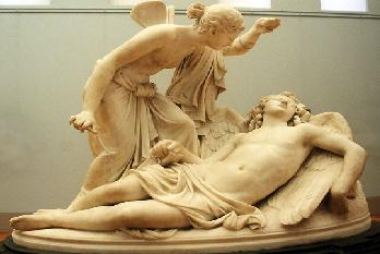 Psyche discovers sleeping Eros
